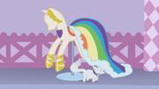 Vestido de Rainbow Dash no manequim T1E14