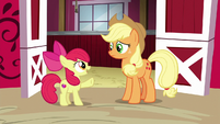 Apple Bloom interrupts Applejack S6E14