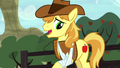 Braeburn looking at his injured hoof S5E6.png