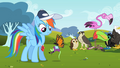 Butterfly carrying toy mouse back to Rainbow Dash S2E07.png