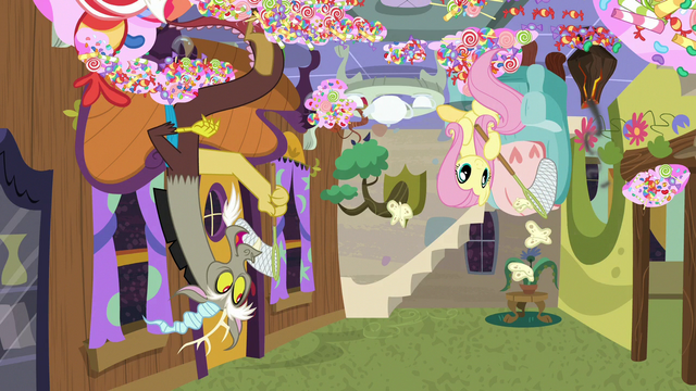 File:Discord and Fluttershy holding butterfly nets S7E12.png