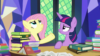 "Fluttershy ""every book in the entire library"" S7E20"