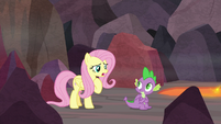 Fluttershy asking for Spike's help S9E9