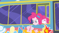 Pinkie Pie looking out the bus window EGDS12