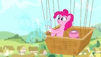 Pinkie making a bubble shaped like a pony S4E12