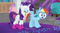 Rainbow Dash making a realization S8E17
