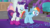 Rainbow Dash making a realization S8E17