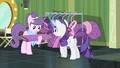 Rarity giving her fabric to Suri S4E08.png