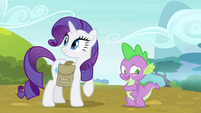 Spike blushing -thanks- S4E23