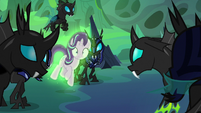 Starlight Glimmer covered in Chrysalis' aura S6E26