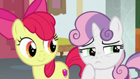 Sweetie Belle thinking for a moment S8E12