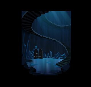 The Crystal empire stairs backround
