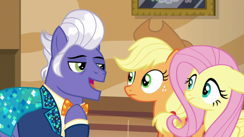 Applejack and Fluttershy meet Gladmane S6E20