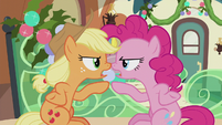 Applejack and Pinkie -you stop it first!- S5E20