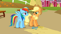 Applejack and Rainbow competitive S1E13.png