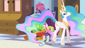 Bellhop bowing to Celestia S2E9.png