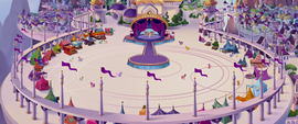 Bird's-eye view of the Canterlot basilica MLPTM