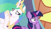 Celestia tells Twilight to find the students S8E2