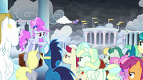 Cotton Sky addressing the Pegasi S9E25