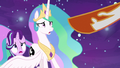 Daybreaker points her hoof at Princess Celestia S7E10.png