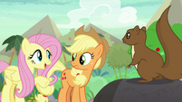 "Fluttershy ""he knows where to find"" S8E23"