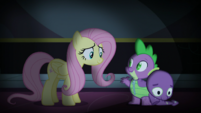 Fluttershy and Spike smiling S5E21