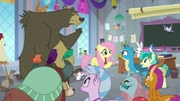 Fluttershy teaching with her animals S8E1