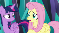 Fluttershy thinking about Angel S9E2