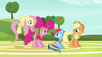 Pinkie Pie --we were running out of unicorns-- S6E18