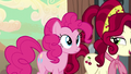 Pinkie and Cherry walk together S5E11.png