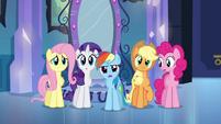 Rainbow Dash questionando a Princesa Celestia EG