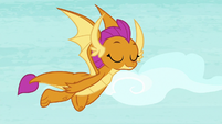 Smolder flying through the sky S8E24