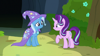 Starlight Glimmer explains her plan to Trixie S7E17