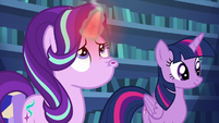 Starlight blowing on her overheated horn S6E21