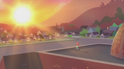 Sunset on the Canterlot High School roof EG2