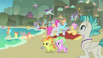 Terramar sees the Hippogriff-seapony picnic S8E6