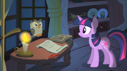 Twilight olhando para Owlowiscious T1E24