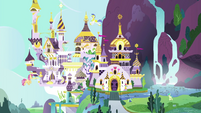 Wide exterior shot of Canterlot EGFF