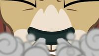 Yona snorting through her nostrils S8E15