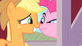 Applejack face-to-face with Pinkie Pie S01E25.png