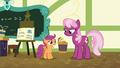 Cheerilee gives Scootaloo a B for her report S7E7.png