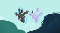 Flitter and Band Pony looking at each other S4E16