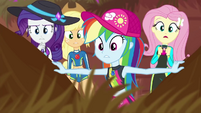 Fluttershy and friends look through tall grass EGDS14