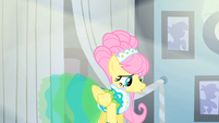 Fluttershy in a dress chosen by Photo Finish S1E20