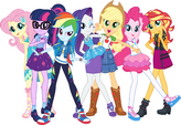 MLP Equestria Girls Digital Series full group pose 2