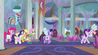 Mane Six watch Starlight and Cozy leave S8E25