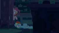 Rainbow Dash hears the Cake twins S6E15