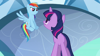 Rainbow acknowledging Twilight S3E2