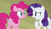 "Rarity ""our lead actress is"" S8E7"