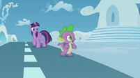 "Spike ""I don't wanna miss the rainboom"" S5E25"